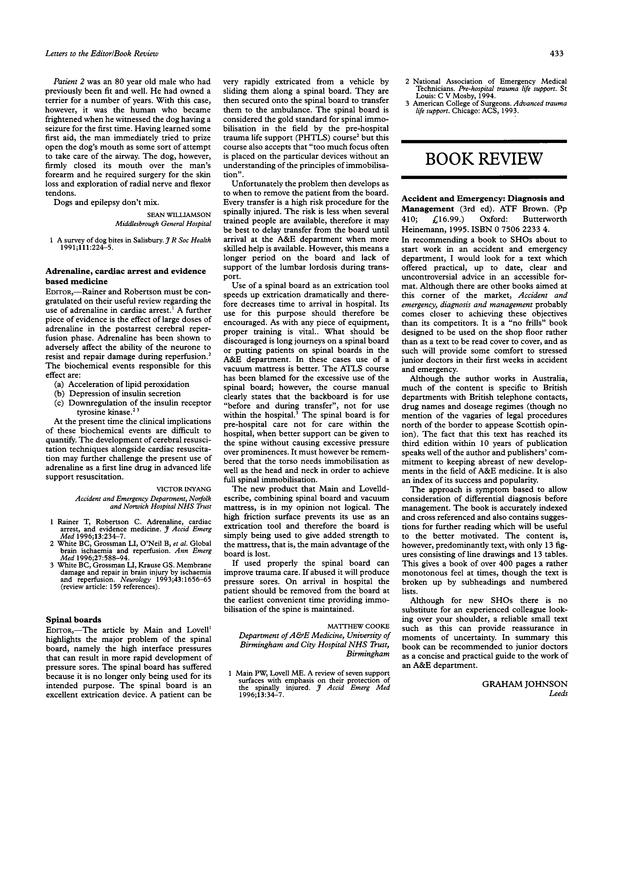 Spinal boards  | Emergency Medicine Journal