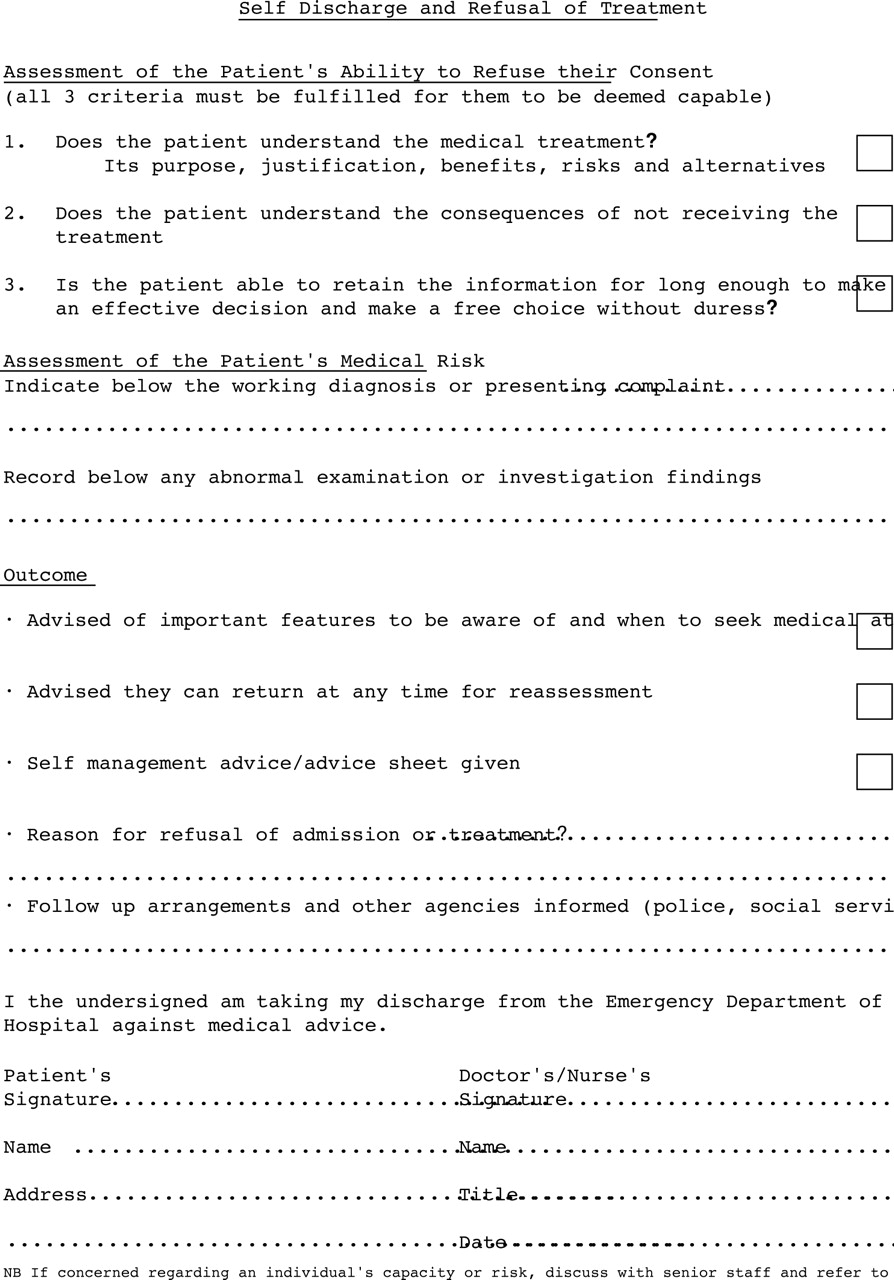 patient self discharge from the emergency department  who