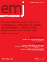 Emergency Medicine Journal: 29 (11)