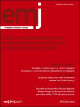 Emergency Medicine Journal: 29 (4)