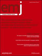 Emergency Medicine Journal: 29 (5)
