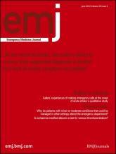 Emergency Medicine Journal: 29 (6)