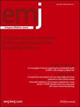 Emergency Medicine Journal: 29 (7)