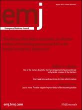 Emergency Medicine Journal: 29 (8)