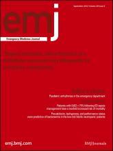Emergency Medicine Journal: 29 (9)