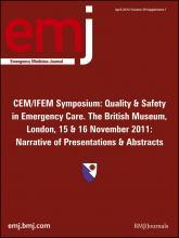 Emergency Medicine Journal: 29 (Suppl 1)