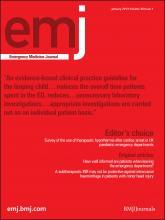 Emergency Medicine Journal: 30 (1)