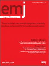 Emergency Medicine Journal: 30 (10)