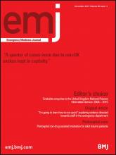 Emergency Medicine Journal: 30 (11)