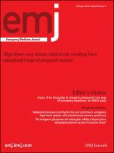 Emergency Medicine Journal: 30 (2)