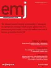 Emergency Medicine Journal: 30 (3)