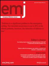 Emergency Medicine Journal: 30 (4)