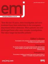 Emergency Medicine Journal: 30 (6)