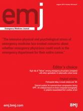 Emergency Medicine Journal: 30 (8)