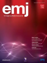 Emergency Medicine Journal: 31 (10)