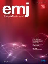 Emergency Medicine Journal: 31 (10)
