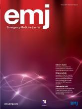 Emergency Medicine Journal: 31 (3)