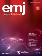 Emergency Medicine Journal: 32 (10)