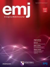 Emergency Medicine Journal: 32 (9)