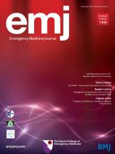 Emergency Medicine Journal: 33 (11)