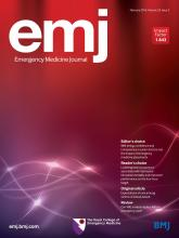 Emergency Medicine Journal: 33 (2)