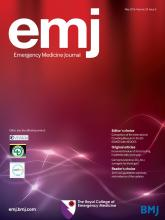 Emergency Medicine Journal: 33 (5)