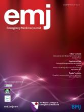 Emergency Medicine Journal: 33 (6)