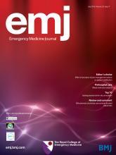 Emergency Medicine Journal: 33 (7)