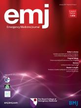 Emergency Medicine Journal: 34 (1)