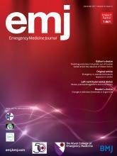 Emergency Medicine Journal: 34 (12)