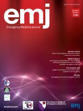 Emergency Medicine Journal: 34 (7)