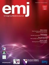 Emergency Medicine Journal: 34 (9)