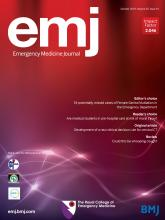 Emergency Medicine Journal: 35 (10)