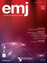 Emergency Medicine Journal: 35 (12)