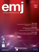 Emergency Medicine Journal: 35 (5)