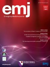 Emergency Medicine Journal: 35 (6)