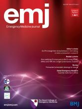Emergency Medicine Journal: 35 (7)