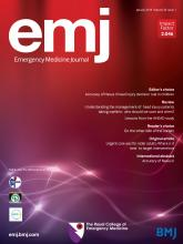 Emergency Medicine Journal: 36 (1)