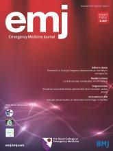 Emergency Medicine Journal: 36 (11)