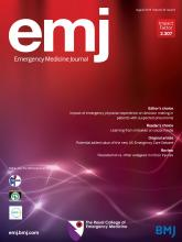 Emergency Medicine Journal: 36 (8)