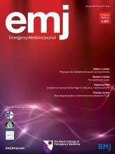 Emergency Medicine Journal: 37 (1)
