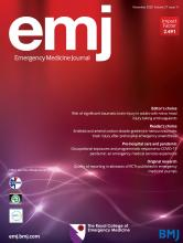 Emergency Medicine Journal: 37 (11)