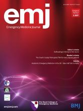 Emergency Medicine Journal: 37 (6)