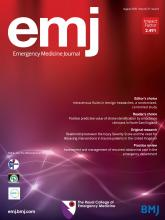Emergency Medicine Journal: 37 (8)