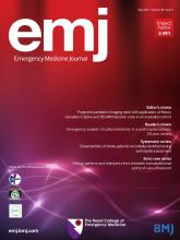 Emergency Medicine Journal: 38 (5)