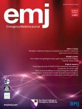 Emergency Medicine Journal: 38 (7)