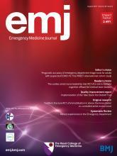 Emergency Medicine Journal: 38 (8)