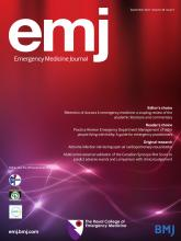 Emergency Medicine Journal: 38 (9)